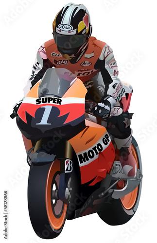 Superbike And Biker