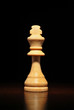 Single wooden chess piece