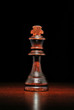 Illuminated wooden king chess piece