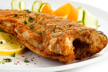 Fish dish - fried trout