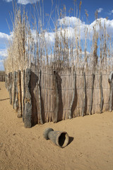 Village of Hambukushu Tribe. Caprivi Strip. Namibia
