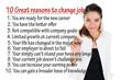 Reason to change job