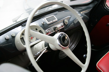 Fiat 600 multipla interiors vintage steering wheel