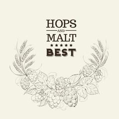 Decorative hops garland.