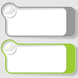 set of two vector text boxes with envelope