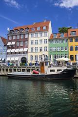Nyhavn in Copenhagen, Denmark..