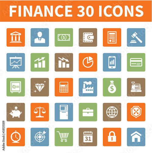 Finance & Business 30 Vector Icons