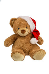 Teddybär mit Weihnachtsgeschenken