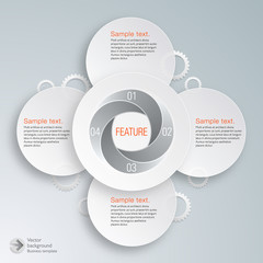 Infographics Vector Background Selling Point