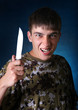 Angry Teenager with Knife