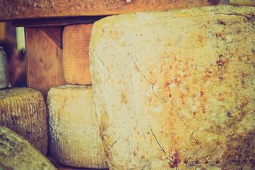 Vintage looking Cheese food