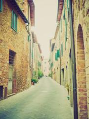 San Quirico Orcia, Tuscany, Italy retro looking