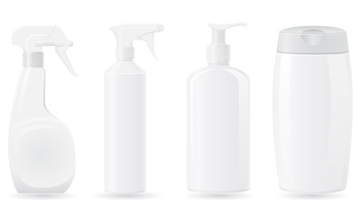 set icons plastic bottle vector illustration