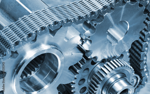 gears and cogs powered by timing chain