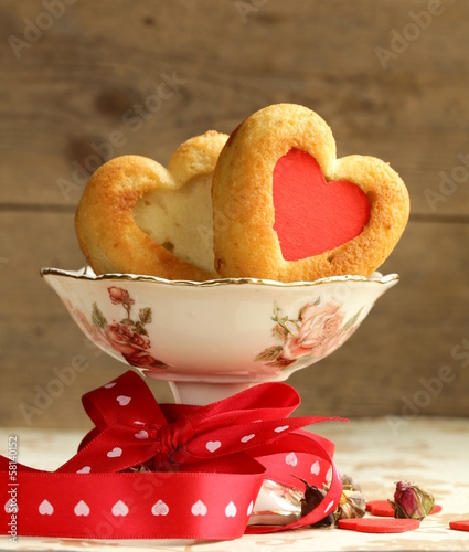 muffins in the shape of a heart - sweet gift for Valentine's Day
