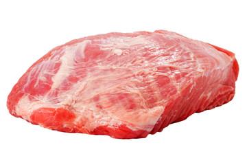 Fresh raw pork meat isolated on white background