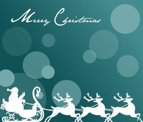 Weihnachtsschlitten Hintergrund Vektor Illustration