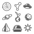 Space astronomical icons