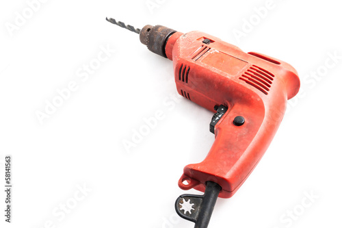 orange electric drill in isolated