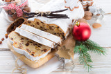 Christmas stollen with vanilla