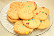 Peanutbutter Cookies with Colorful Candies