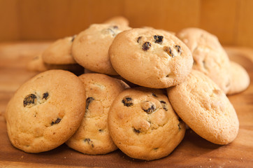 Cookies biscuit with raisin