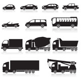 Fototapety icon car: cabriolet, hopper, bus, minivan