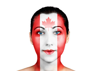 Face  with the Canada flag