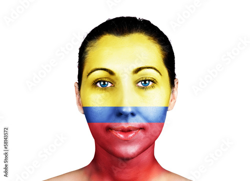 Face  with the Columbia flag