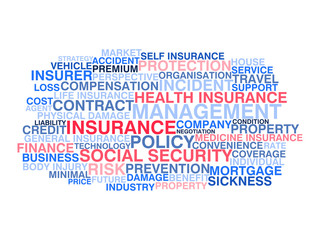 Insurance. Word cloud concept