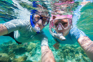 Couple snorkelling
