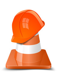 Helmet and Cone