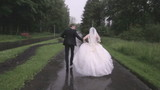 wedding in the rain
