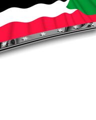 Designelement Flagge Sudan