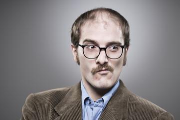 Nerd Professor Making A Face