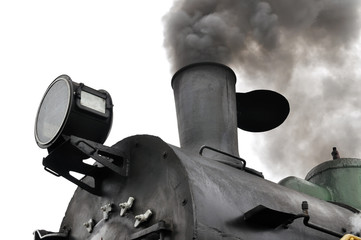 part of active steam locomotive