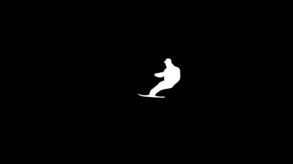 extreme Snowboard animation