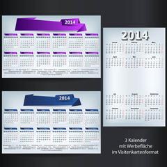 kalender set 2014 visitenkartenformat