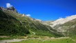 Pyrenees mountains summer landscape.