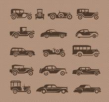 Vieilles voitures. format vectoriel