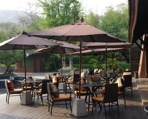 beautiful tropical resort restaurant patio
