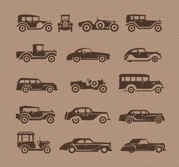 Old cars. Vector format
