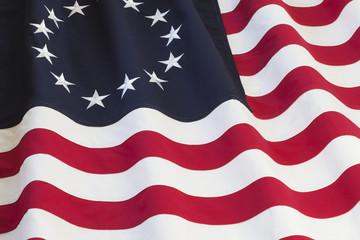 United States flag with thirteen stars