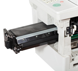 inserting of cartridge in multifunctional device
