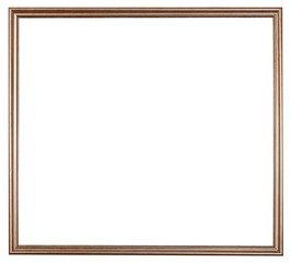 narrow bronze painted wooden picture frame