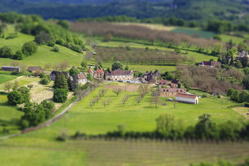 Panoramic view of the tiny village in France