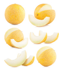 collection of 6 galia melon images
