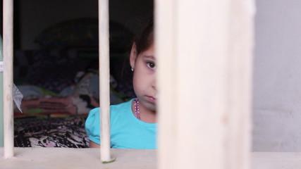 Desperate little girl