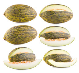 collection of 6 green melon images