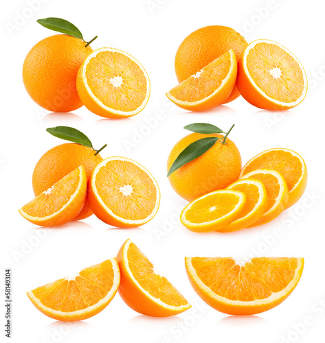 canvas print picture collection of 6 orange images